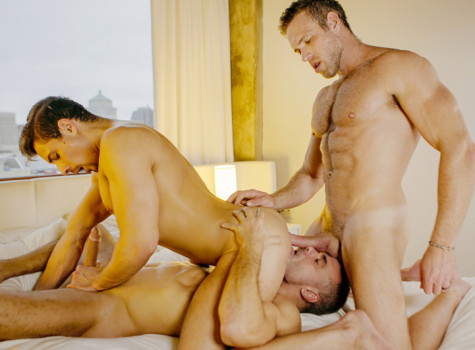 Double Penetration: Alex Mecum, Carter Dane & Manuel Skye